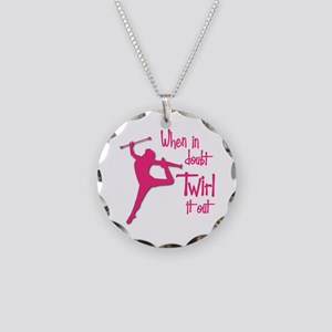 TWIRL IT OUT Necklace Circle Charm