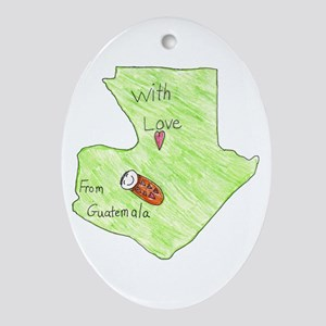 With Love From Guatemala Oval Ornament