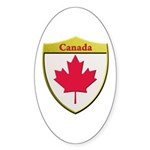 Canada Metallic Shield Sticker
