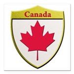 Canada Metallic Shield Square Car Magnet 3