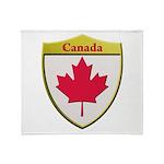 Canada Metallic Shield Throw Blanket