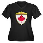 Canada Metallic Shield Plus Size T-Shirt