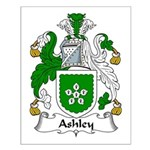 Ashley Family Crest Small Poster