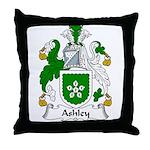 Ashley Family Crest Throw Pillow