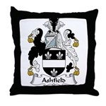 Ashfield Family Crest Throw Pillow
