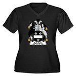 Ashfield Family Crest Women's Plus Size V-Neck Dar