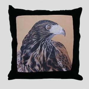 Immature Harris Hawk Throw Pillow