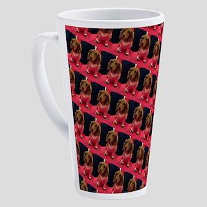 Kawaii Pink Dachshund Doggie 4Bogi 17 oz Latte Mug