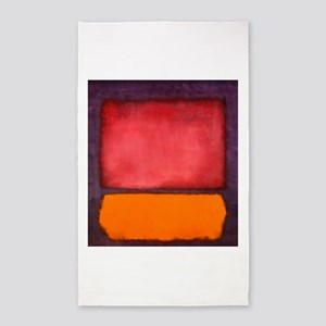 ROTHKO ORANGE RED PURPLE Area Rug