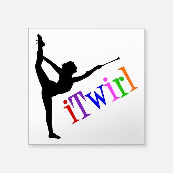 "iTWIRL Square Sticker 3"" x 3"""