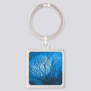 Evening Calm Square Keychain