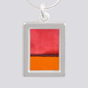 ROTHKO ORANGE RED PURPLE Necklaces
