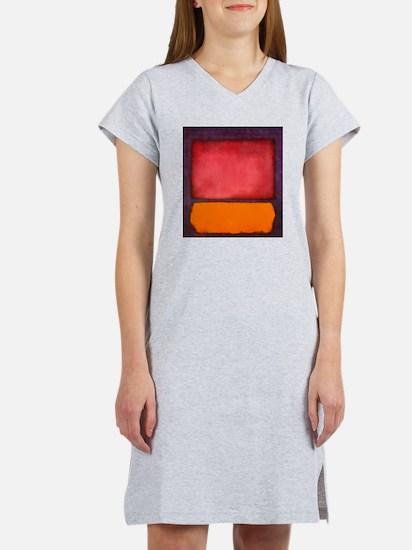 ROTHKO ORANGE RED PURPLE Women's Nightshirt