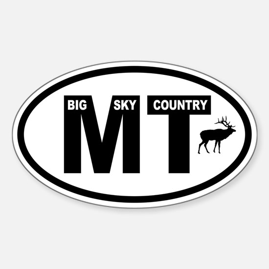 Montana Big Sky Elk Oval Decal