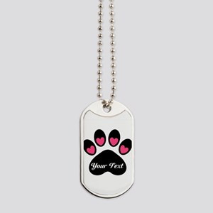 Personalizable Paw Print Dog Tags