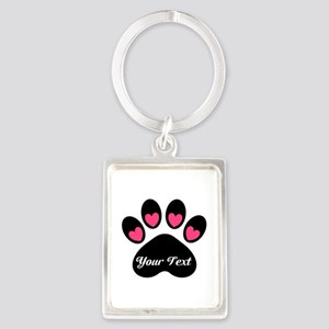 Personalizable Paw Print Keychains