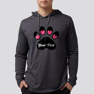 Personalizable Paw Print Long Sleeve T-Shirt