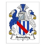 Annesley Family Crest Small Poster