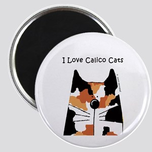 I Love Calico Cats Magnet