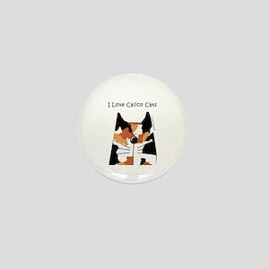I Love Calico Cats Mini Button
