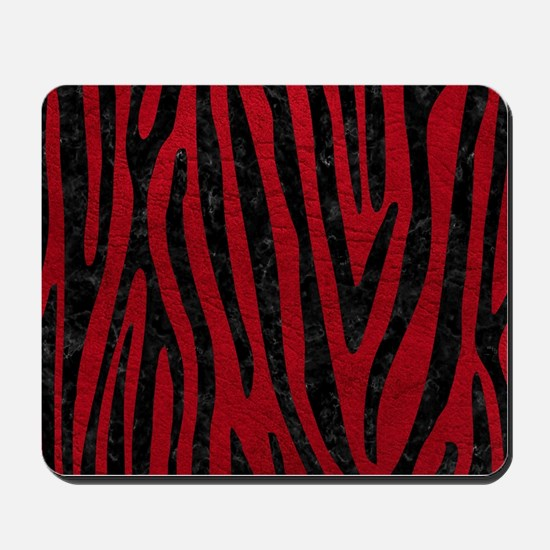 SKIN4 BLACK MARBLE & RED LEATHER (R) Mousepad