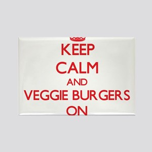 Keep Calm and Veggie Burgers ON Magnets