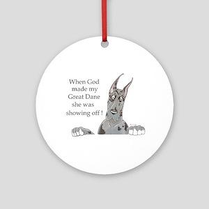 CMrl God showoff2 Ornament (Round)