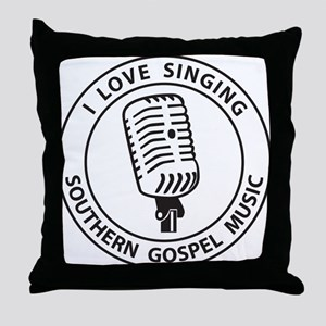 """I Love Singing SGM""  Throw Pillow"