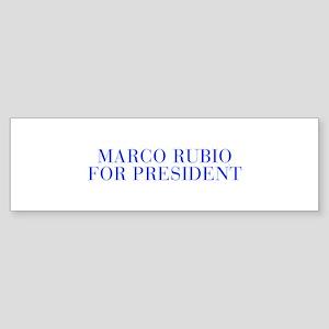 Marco Rubio for President-Bau blue 500 Bumper Stic