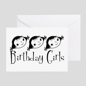 Retro Birthday Girls Greeting Card