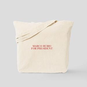 Marco Rubio for President-Bau red 500 Tote Bag