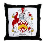 Amos Family Crest Throw Pillow