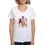 Amos Family Crest Women's V-Neck T-Shirt