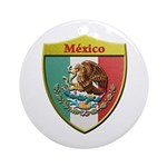 Mexico Metallic Shield Ornament (round)