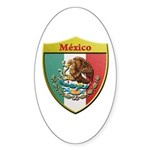 Mexico Metallic Shield Sticker