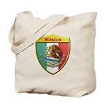 Mexico Metallic Shield Tote Bag