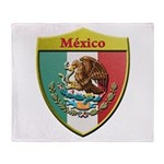 Mexico Metallic Shield Throw Blanket