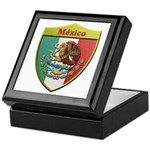 Mexico Metallic Shield Keepsake Box
