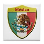 Mexico Metallic Shield Tile Coaster