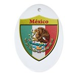 Mexico Metallic Shield Ornament (Oval)