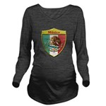 Mexico Metallic Shield Long Sleeve Maternity T-Shi