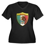 Mexico Metallic Shield Plus Size T-Shirt