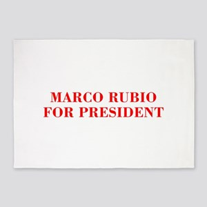 Marco Rubio for President-Bod red 421 5'x7'Area Ru