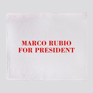 Marco Rubio for President-Bod red 421 Throw Blanke