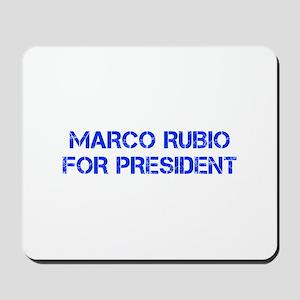 Marco Rubio for President-Cap blue 500 Mousepad