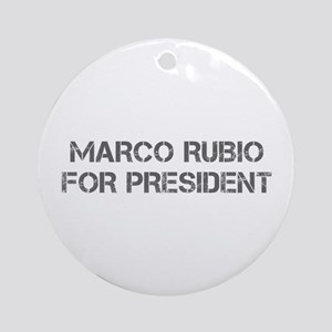 Marco Rubio for President-Cap gray 500 Ornament (R