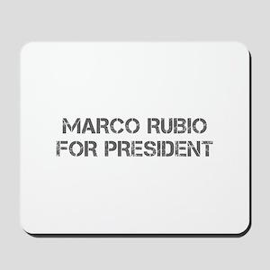 Marco Rubio for President-Cap gray 500 Mousepad