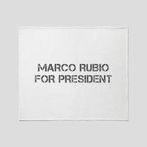 Marco Rubio for President-Cap gray 500 Throw Blank