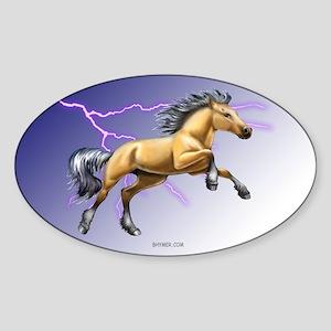 Buckskin Oval Sticker