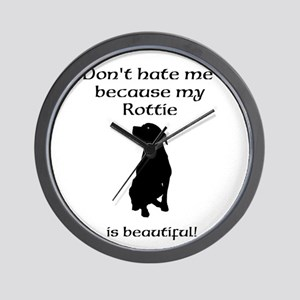 Dont hate...Rottie Wall Clock